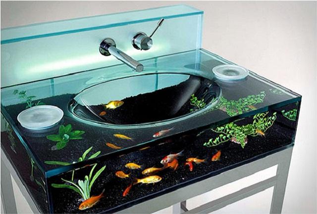 Akwarium w łazience