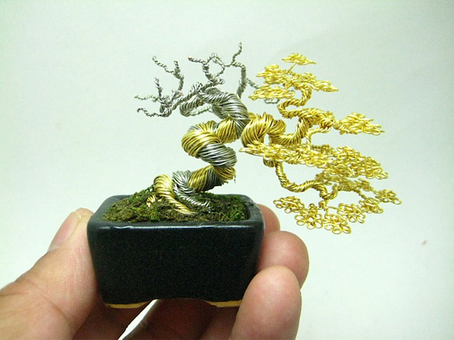 Bonsai wire-wrapping